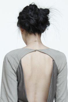 Tailored dress back detail - pattern cutting, contemporary fashion // Titania Inglis A/W 2013