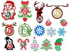 christmas monogramscandycane monogramtree monogramplaid monogramsnowflake monogramxmas giftsch - Christmas Monograms
