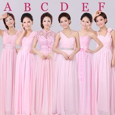 free shipping 2014 new bridesmaid dresses pink bridesmaid dress long section of the sister group sister group bridesmaid dress b US $28.50