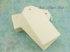 50 Cream Luggage Tags   Blank Gift Tags  Ivory by KatsPaperTrail, $6.75