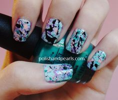 diy: splatter nails