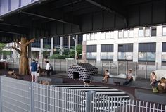 Dog Park/East River Waterfront Esplanade - good example of shade structure where there are no trees