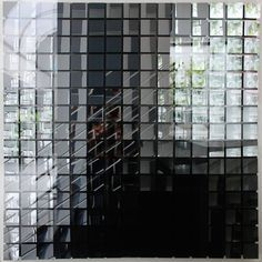 Adolf Luther Hohlspiegelobjekt, 1988 15 x 15 grey concave square mirrors (8 x 8 cm), acrylic glass 151 x 151 x 12 cm  401contemporary, Berlin