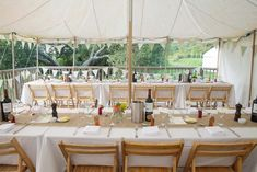 Outdoor Rustic Marquee Reception | Classic Wedding | Outdoor Ceremony | http://www.rockmywedding.co.uk/alex-james/ | Images by Mckenzie Brown Photography.