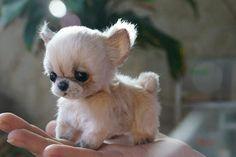 Needle felted dog puppy