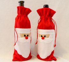 Купить товарДекоративный новогодний мешок чехол дед мороз для бутылки, для…