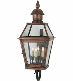Visual Comfort E.F. Chapman Pimlico 4 Light Outdoor Wall Lantern in Natural Copper CHO2081NC #visualcomfort #lightingnewyork #lighting
