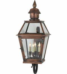 Visual Comfort E.F. Chapman Pimlico 4 Light Outdoor Wall Lantern in Natural Copper CHO2081NC #visualcomfort #lightingnewyork #lighting