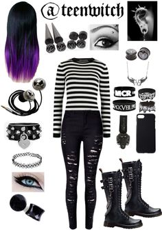 I only see My Chemical Romance and Black Veil Brides on the bracelets. I can'… – Kleidung – I only see My Chemical Romance and Black Veil Brides on the bracelets. I can & # 39 … – Clothing – # … Cute Goth Outfits, Scene Outfits, Punk Outfits, Gothic Outfits, Mode Outfits, Grunge Outfits, Girl Outfits, Fashion Outfits, Skater Outfits