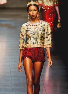 Dolce & Gabbana. Beading & detail on this collection is out of this world. Amazing.