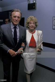 Kirk Douglas and Anne Douglas during 'Driving Miss Daisy' Premiere at Off Broadway Theater in New York City, New York, United States.