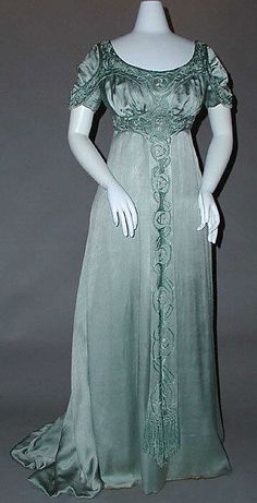 Evening dress, silk and cotton, c. 1910, British, Liberty and Co.