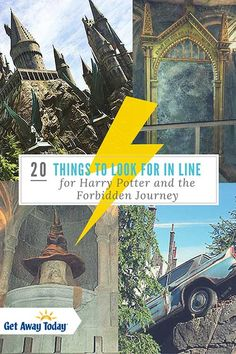 20 Things To Look For In Line for Harry Potter and the Forbidden Journey