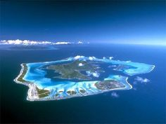 Bora Bora, one of the most beautiful places in the world. Staying at the Four Seasons Hotel here, would be epic.