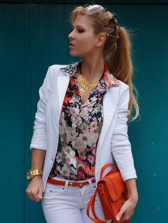 white and florals