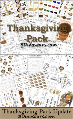 Free Thanksgiving Pack, great to keep kids busy during family get togethers.