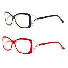 Fashion Women Eyeglasses Frame Vintage Myopia Black Glasses Red wine  Acetate Frame Bright Red Frame Optical d11a5477a594
