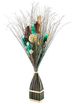 Artikeldetails:  Dekoratives Gras, Kombination verschiedener Naturmaterialien, Fertig dekoriert,  Maße:  Höhe: 100 cm,  Material/Qualität:  Aus Kunststoff,  ...