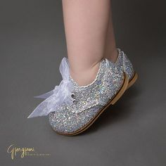 """Let her Sparkle  Gjergjani Shoes Handmade Glittered Oxfords  shop:  ittybittytoes.com (search """"Paris 15"""") Ready to Ship ✈ Worldwide Delivery"""