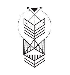 #fold #tattoo #dashed #design #tatuagem #simple #line #geometric