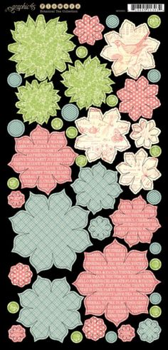 Cardstock Flowers 1 from our new collection, Botanical Tea! In stores in early February #graphic45 #newcollections
