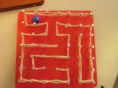 Nail maze for marble - Nail maze for marble - Arts And Crafts For Adults, Crafts For Kids, Sand Crafts, Diy And Crafts, Kids Barn, Woodworking Projects For Kids, Arts And Crafts Movement, String Art, Art For Kids