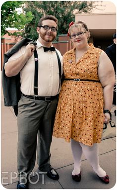 Dapper Disneybounding for Dapper Day (Carl Ellie from UP) Disney Dapper Day, Disney Bound Outfits, Hollywood Studios, Disneybound, Wedding Portraits, Pretty Outfits, Dress Up, Vintage Fashion, Disney Bounding