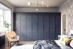 Bedroom Built In Wardrobe, Closet Bedroom, Bedroom Decor, Bedroom Storage, Bedroom Ideas, Fitted Bedrooms, Fitted Bedroom Wardrobes, Modern Fitted Wardrobes, Blue Bedrooms