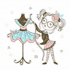 Cute Little Boys, Cute Girls, Little Girl Fashionista, Unicorn Hat, Origami 3d, Cute Girl Wallpaper, Boutique Logo, Sewing Art, Illustration Sketches