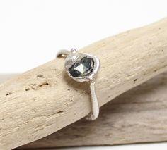 Tamara Gomez - Molten sapphire ring, sterling silver.  #sapphirering
