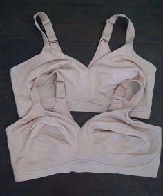 cc71f71da8d70 Lot 2 Amoena Mastectomy Bra 38DD Magdalena Wirefree Nude Flexible Boning   Amoena  MastectomyBras Breast