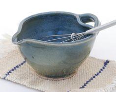 24 oz Batter Bowl ceramic mixing bowl Blue/green by ElenaMadureri