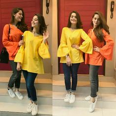 Stunning Aiman Khan and Minal Khan  Always inspired us by their Dressing and Sweetness! #AimanKhan #MinalKhan #LoveSisters #PrettyGirls #PakistaniActresses ✨