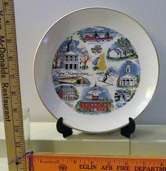 New H&shire State 8 Inch Knowles Decorative Plate & State Plate - FLORIDA - Collectible Decor Plate - 70s Souvenir