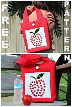 28dfca7e8817 This Tote Bag pattern is FREE.This tote is perfect to carry lunch to work  or as a gift for a teacher for books