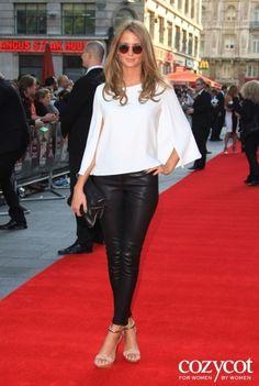 Millie Mackintosh in Muubaa leather trousers #MIC #MadeInChelsea