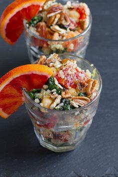 blood orange,quinoa and kale salad