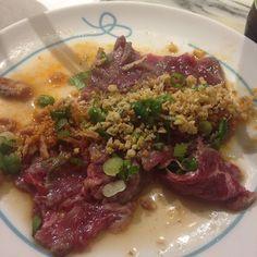 Sadly a (way) latergram making me hungry to see. This was awesome! #hongkong #latergram #beef #tataki #foxtailandbroomcorn #omnivore by hongkongks