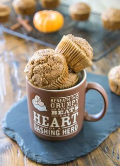 Pumpkin Spice Latte MUFFINS! Breakfast + caffeine all in one easy, holiday-inspired muffin.