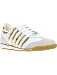 DSquared2 | striped trainer #dsquared2 #sneakers