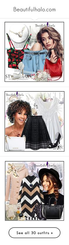 """Beautifulhalo.com"" by lip-balm ❤ liked on Polyvore featuring women's clothing, women, female, woman, misses, juniors, beautifulhalo, Bottega Veneta, Michael Kors and ASOS"
