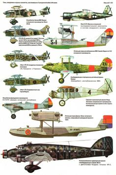 Aviones de la Guerra Civil Española, Nacionales y Republicanos 1936-1939. Aircraft of the Spanish Civil War 1936-1939