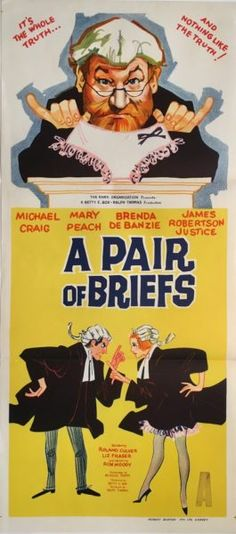 A Pair Of Briefs 1962 original vintage Australian daybill movie poster featuring James Robertson Justice. Available for purchase from our website.