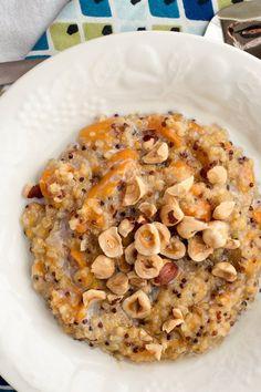 crockpot steel-cut oats & quinoa (small batch) ***