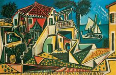 Pablo Picasso | Mittelmeerlandschaft - Mediterranean Landscape | 1952 | © Succession Picasso/ Bildrecht, Wien 2015 | Albertina, Wien - Sammlung Batliner #MonettoPicasso #MonetbisPicasso