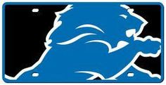 Detroit Lions License Plate - Acrylic Mega Style