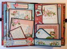 Graphic 45 Time to Flourish 8 x 5 mini album by Anne Rostad