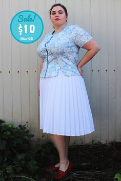 CLEARANCE  Plus Size  Vintage Blue & White Floral by TheCurvyElle