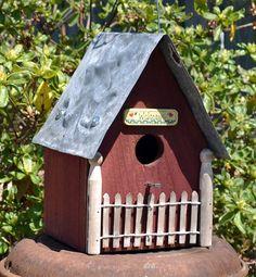 Rustic Birdhouse - Primitive Birdhouse - Ozark Cabin Birdhouse