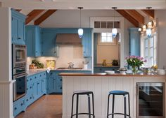 The blue intrigues me, but I would love more colors - - - contemporary kitchen by ERS Design LLC